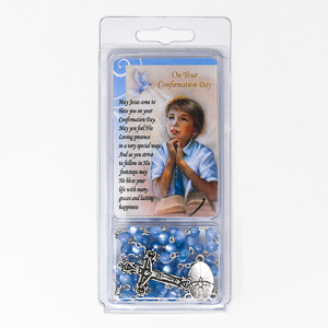 Confirmation Blue Rosary.