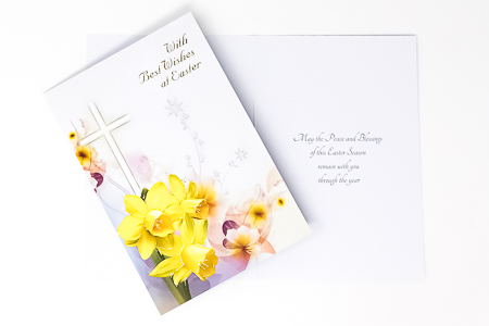Card with Wishes at Easter.