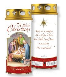 Red Christmas Blessings Candle.