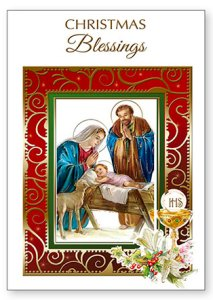 Christmas Priest Card.