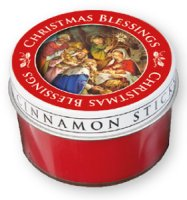 Cinnamon Scented Nativity Candle.
