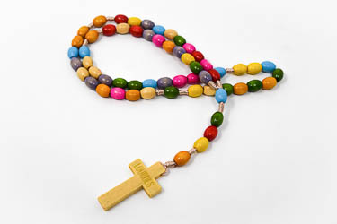 Wooden Colour Rosary Beads.