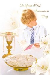 Holy Communion Card for a Boy.