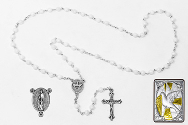 Mother of Pearl Confirmation Rosary Gift Set.
