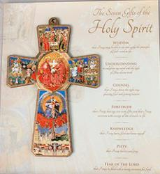 Confirmation Cross - 7 Gifts of the Holy Spirit.
