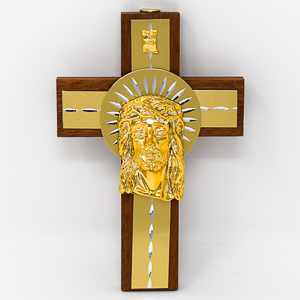 Cross Depicting the Head of Jesus