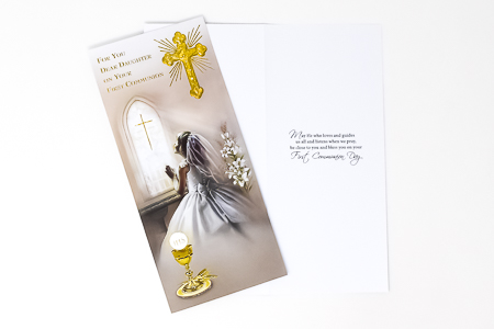 Daughter Communion Card Boxed.