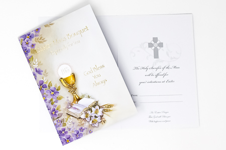 Easter Mass Bouquet Card
