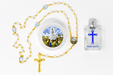 Fatima Rosary Beads & Holy Water.
