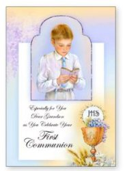 Communion Card for a Girl - Granddaughter