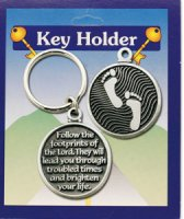 Footprints Key Ring with Verse.