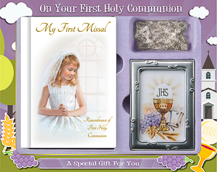 Girls First Holy Communion Gift Set.