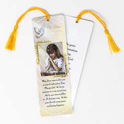 Girl's Bookmark with Confirmation Prayer.