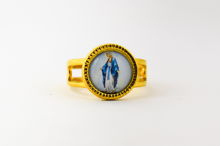 Gold Miraculous Adjustable Ring.
