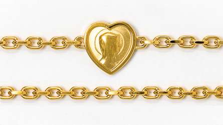 Lourdes Apparition Heart Bracelet.