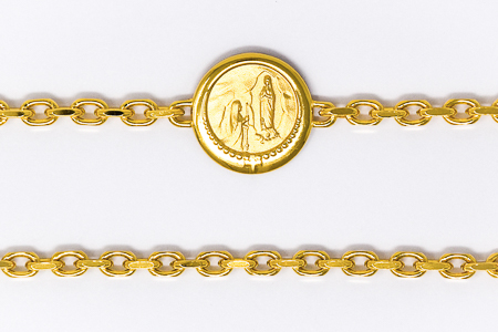 Lourdes Apparition Medal Bracelet.