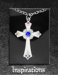 Pearl Cross Necklace.