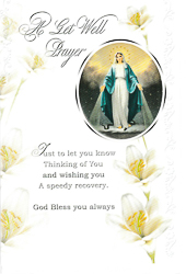 A Get Well Prayer Card - Our Lady of Grace.