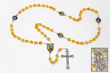 St Michael Guardian Angel Rosary Beads Gift Set