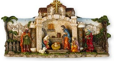 Hand Painted Nativity.