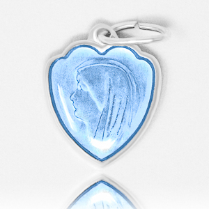 Heart Our Lady of Lourdes Medal.