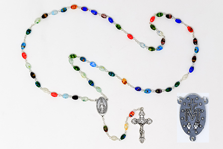 Miraculous Silver Rosary.