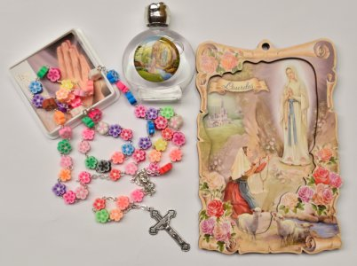 Lourdes Apparition Wall Plaque Gift Set.