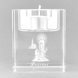 Lourdes Crystal Candle Holder..