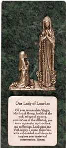 Marble Lourdes Apparition Plaque.