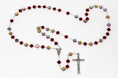 Red Cross Rosary Beads..