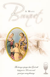 Mass Bouquet Card Holy Family.