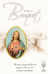 Mass Bouquet Card Sacred Heart of Jesus.