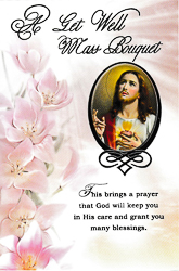 Sacred Heart of Jesus Mass Bouquet Card.
