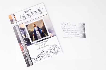 Miraculous with Sympathy Card.