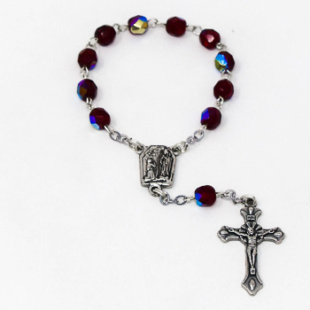 One Decade Ruby Rosary.