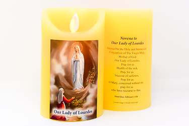 Real Wax Our Lady of Lourdes Candle.