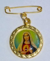 Sacred Heart of Mary Lapel Pin