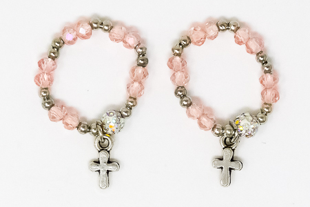 Pale Pink Rosary Ring.