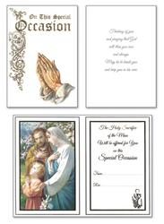 Special Occasion Mass Card.