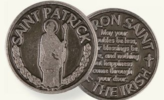 Saint Patrick Pewter Pocket Token.