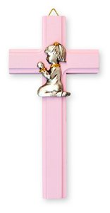 Praying Girl on a Cross.
