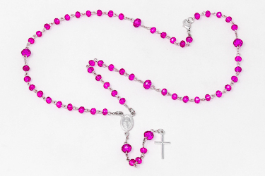 Pink Miraculous Rosary for a Child