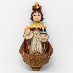 Child of Prague Holy Water Font.