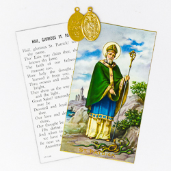 Prayer Card with Medal - St. Patrick.