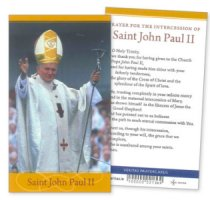 Saint John Paul Prayer Leaflet.