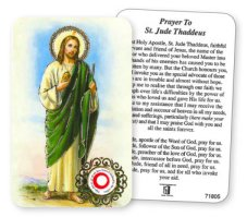 St.Jude Prayer Card with Relic Cloth.