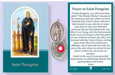 Prayer Booklet to St.Peregrine with Relic Medal.