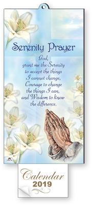Serenity with Praying Hands - Calendar 2019