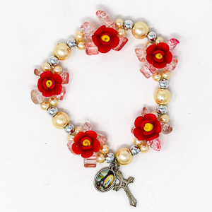 Elastic Red Rose Apparition Bracelet.