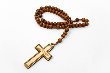 Lourdes Wooden Rosary Beads.